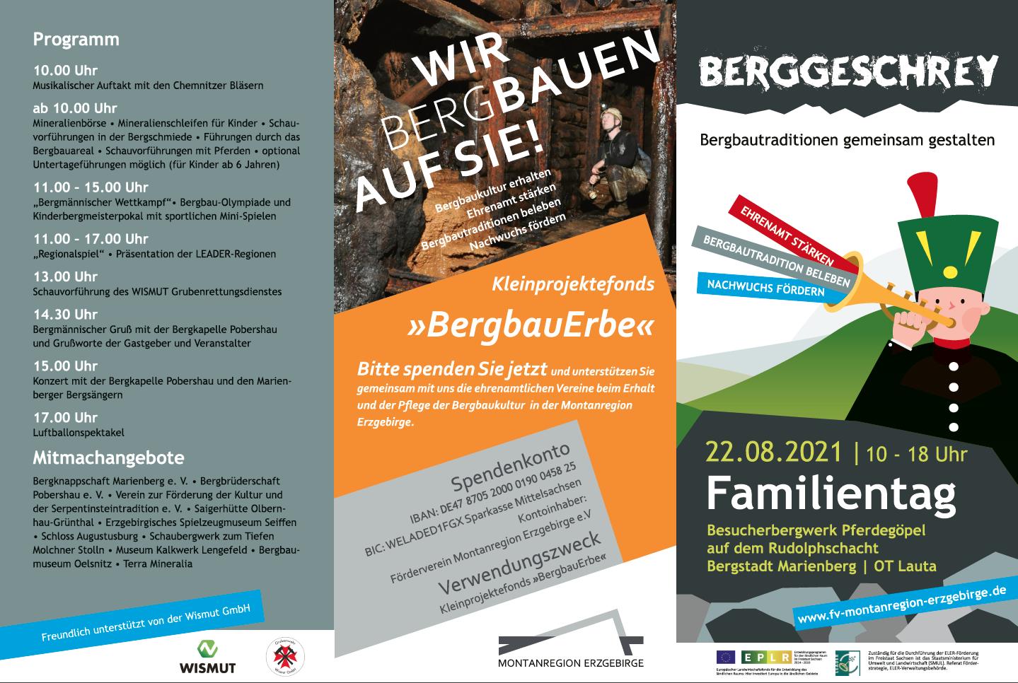 Bergmännischer Familientag Programm 2020